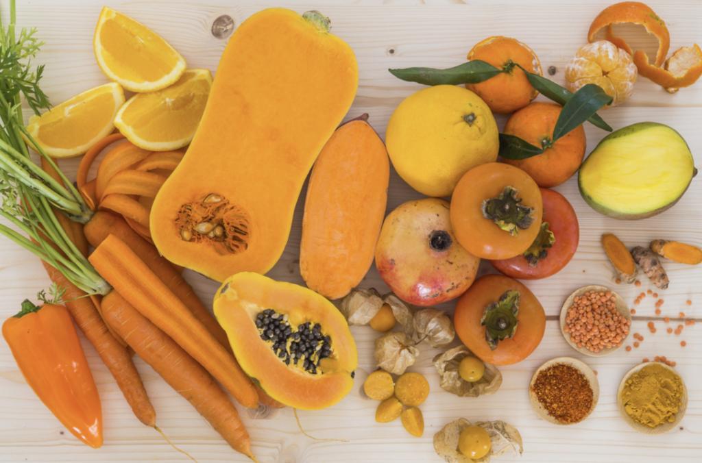 alimenti giallo arancio